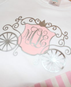 Girls Princess Carriage Shirt