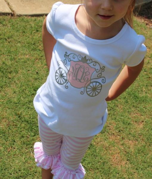 Girls Princess Carriage Shirt