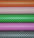 vinyl color options with white polka dots