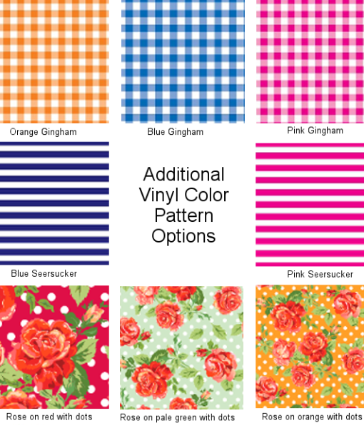 Additional Vinyl Color Pattern Options