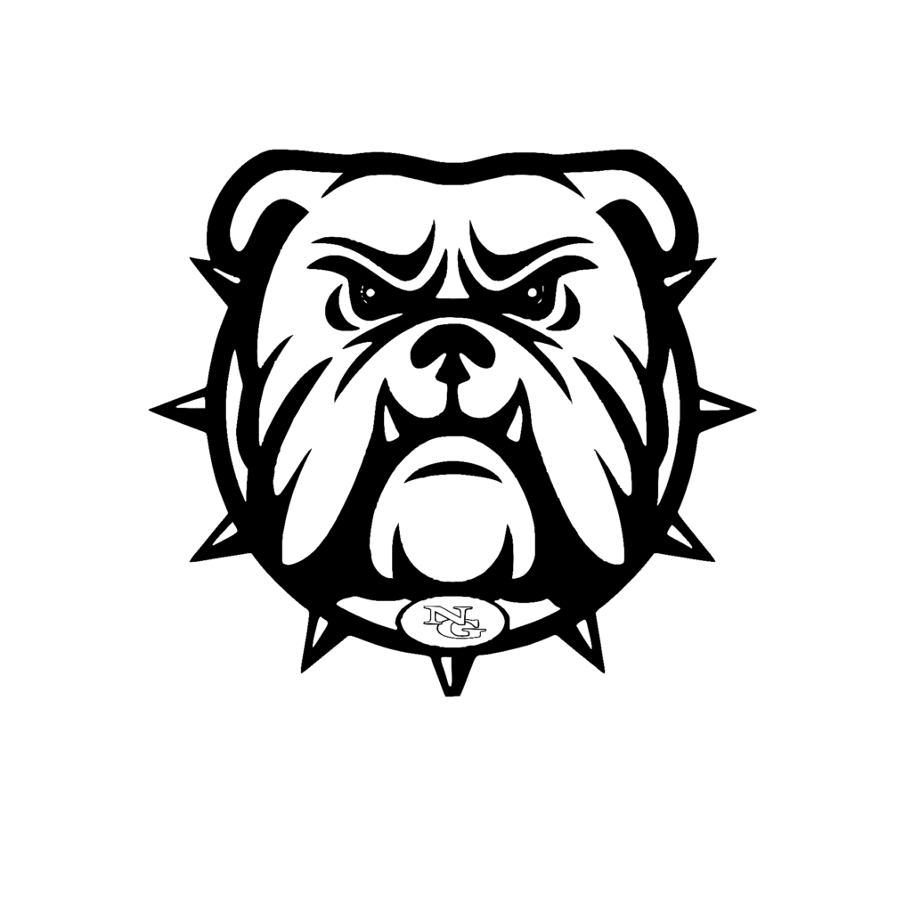#NG02B - North Gwinnett - Bulldogs - Outline - Black