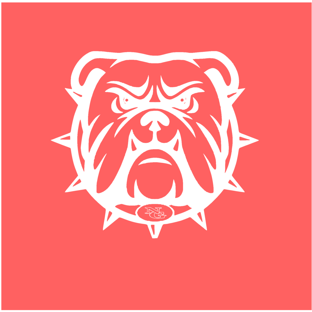 #NG02W - North Gwinnett - Bulldogs - Outline - White