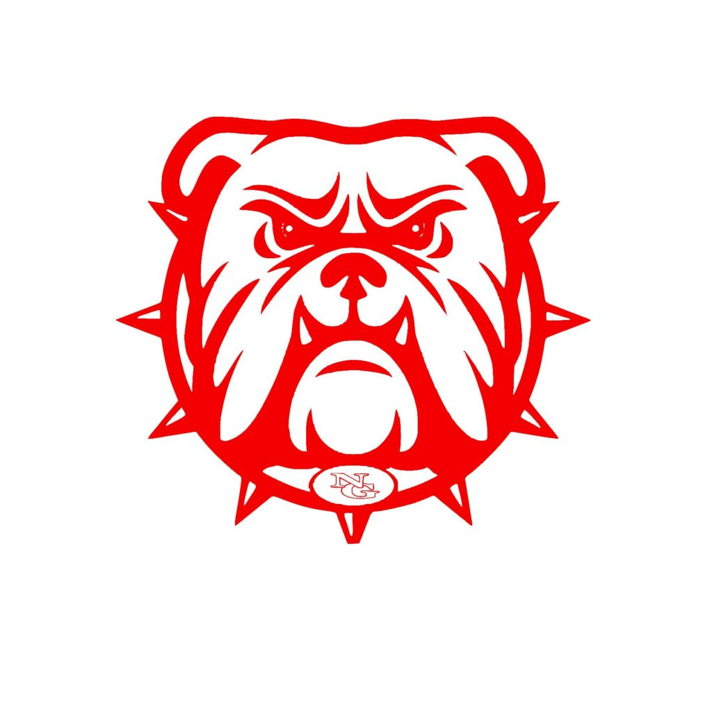 #NG02R - North Gwinnett - Bulldogs - Outline - Red