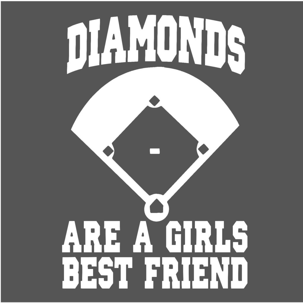 #BB23W - Baseball - Diamonds - White