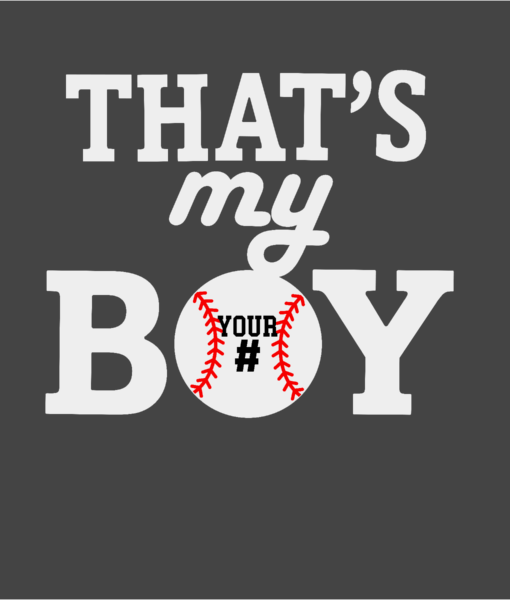 #BB24W - Baseball - My Boy - White