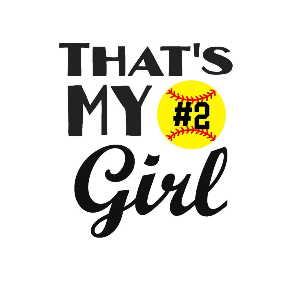 #SB25B - Softball- My Girl - Black