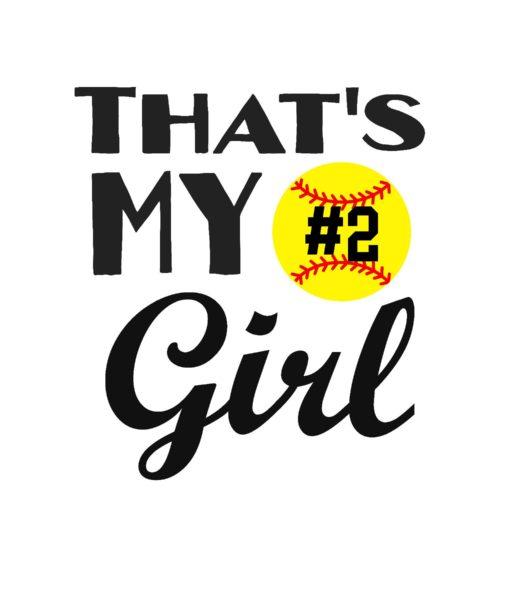 #SB25B - Softball- My Girl - Black